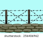 trenches of world war one... | Shutterstock .eps vector #256406962