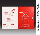 8 march women day flyer ... | Shutterstock .eps vector #256415896