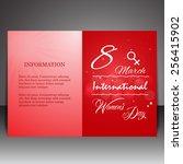 8 march women day flyer ... | Shutterstock .eps vector #256415902