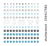 contact icon set  | Shutterstock .eps vector #256417582