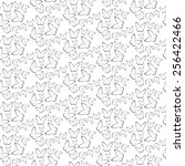 seamless floral pattern with... | Shutterstock .eps vector #256422466