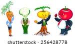 vegetables clerks | Shutterstock .eps vector #256428778