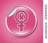 breast cancer design  vector... | Shutterstock .eps vector #256444402