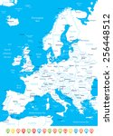 europe map   highly detailed... | Shutterstock .eps vector #256448512