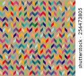 abstract retro stylish... | Shutterstock .eps vector #256473805