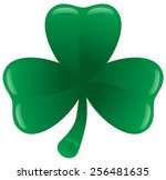 green three leaf clover on... | Shutterstock .eps vector #256481635