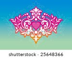 pink crown. | Shutterstock .eps vector #25648366