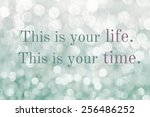 life quote. inspirational quote.... | Shutterstock . vector #256486252