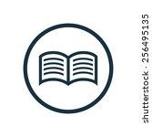 book icon  round shape ... | Shutterstock . vector #256495135