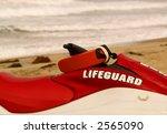 Close Up Of Lifeguard Jet Ski.