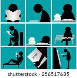info graphic black people... | Shutterstock .eps vector #256517635