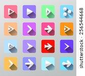 set arrow icons   flat ui for...