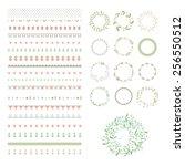 floral decor set. different... | Shutterstock .eps vector #256550512