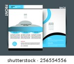 vector flyer template  brochure ... | Shutterstock .eps vector #256554556