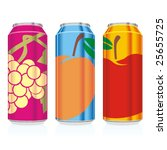 isolated juice cans | Shutterstock .eps vector #25655725