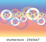 Abstract Circle background pattern design - stock photo