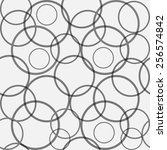 seamless pattern with circles.... | Shutterstock .eps vector #256574842