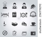 restaurant icons set | Shutterstock .eps vector #256578292