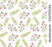 watercolor pattern with vintage ... | Shutterstock .eps vector #256593106