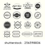 set of vintage badges and... | Shutterstock .eps vector #256598836