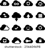cloud technology icons | Shutterstock .eps vector #256604698