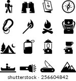 camping and outdoor recreation... | Shutterstock .eps vector #256604842