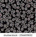 seamless black vector... | Shutterstock .eps vector #256605832