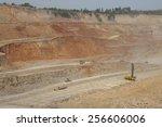 Dig machine at mining field,china Pingsuo - stock photo