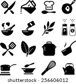 cooking icons | Shutterstock .eps vector #256606012