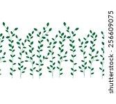 seamless grassy floral  texture.... | Shutterstock .eps vector #256609075