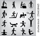 people fitness icons | Shutterstock .eps vector #256618465