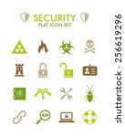 vector flat icon set   security