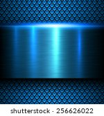 background blue metal texture ... | Shutterstock .eps vector #256626022