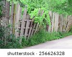 An Old Worn Wooden Fence...