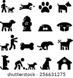 dogs and puppy icons | Shutterstock .eps vector #256631275