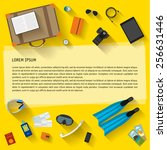 illustration in trendy flat... | Shutterstock .eps vector #256631446