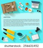 illustration in trendy flat... | Shutterstock .eps vector #256631452