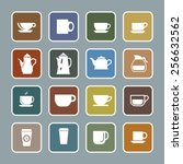 coffee icon set | Shutterstock .eps vector #256632562