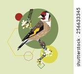 illustration of a bird on...   Shutterstock .eps vector #256633345