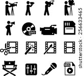 movie and film production icon...   Shutterstock .eps vector #256633465