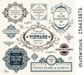 vector vintage collection ... | Shutterstock .eps vector #256633876