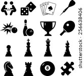 game icon set | Shutterstock .eps vector #256638406