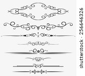 ornamental rule lines in... | Shutterstock .eps vector #256646326