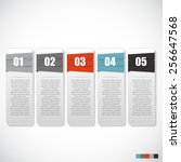 infographic templates for... | Shutterstock .eps vector #256647568