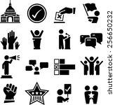 political and election icons | Shutterstock .eps vector #256650232