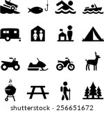 camping and outdoor recreation... | Shutterstock .eps vector #256651672