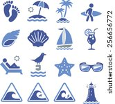 Beach  Waves And Summer Icons