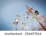 telecommunication mast tv...   Shutterstock . vector #256657816