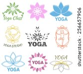 vector set of labels and logos... | Shutterstock .eps vector #256657906