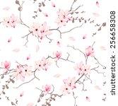Magnolia Blossom Trees Seamless ...